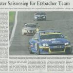 Sechster Saisonsieg für Etzbacher Team