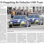 VLN-Doppelsieg für Etzbacher LMS-Team