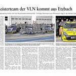 Das Meisterteam der VLN kommt aus Etzbach